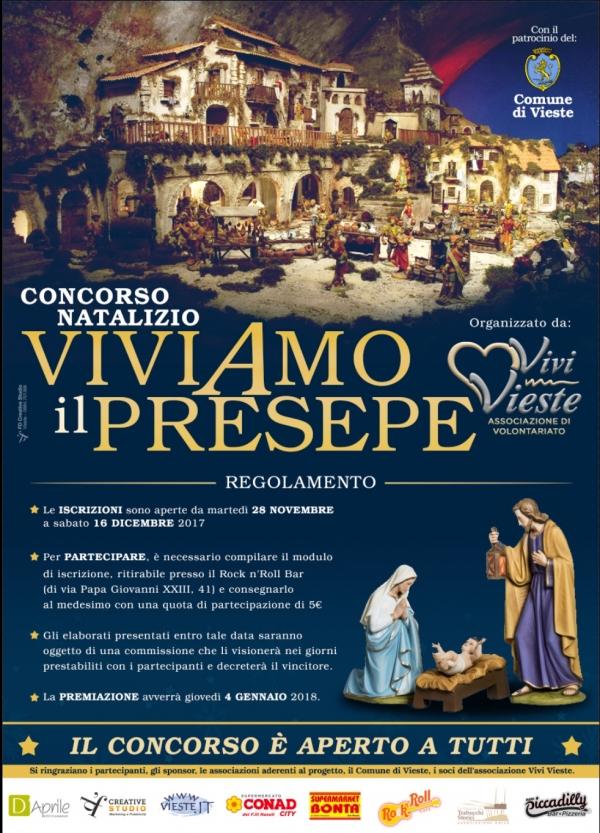 """Vieste/ Al via la prima edizione del Concorso natalizio """"ViviAmo il Presepe"""""""