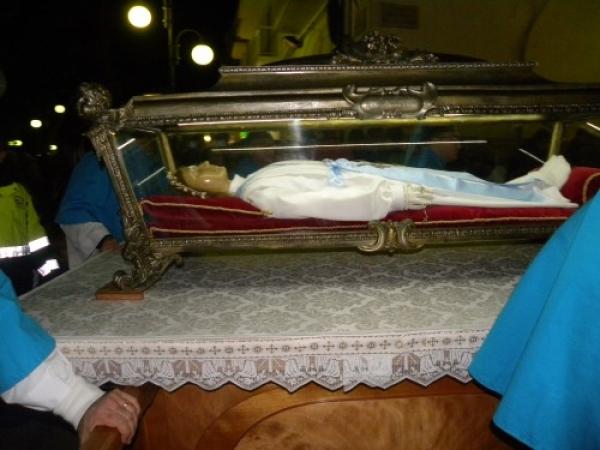 Vieste – SONO ARRIVATE LE SPOGLIE MORTALI DI SANTA MARIA GORETTI, LA SANTA BAMBINA