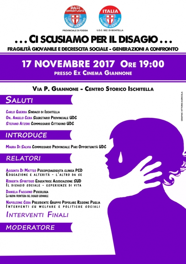 Incontri tematici dell'Udc A Ischitella si parla di disagio giovanile
