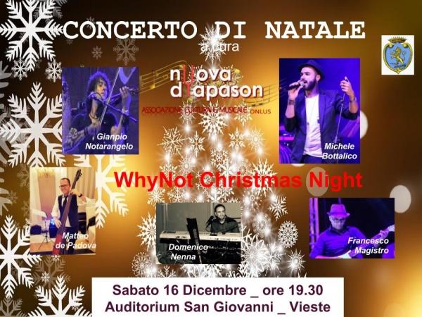 Vieste/ Sabato il concerto di Natale dei WhyNot Christmas