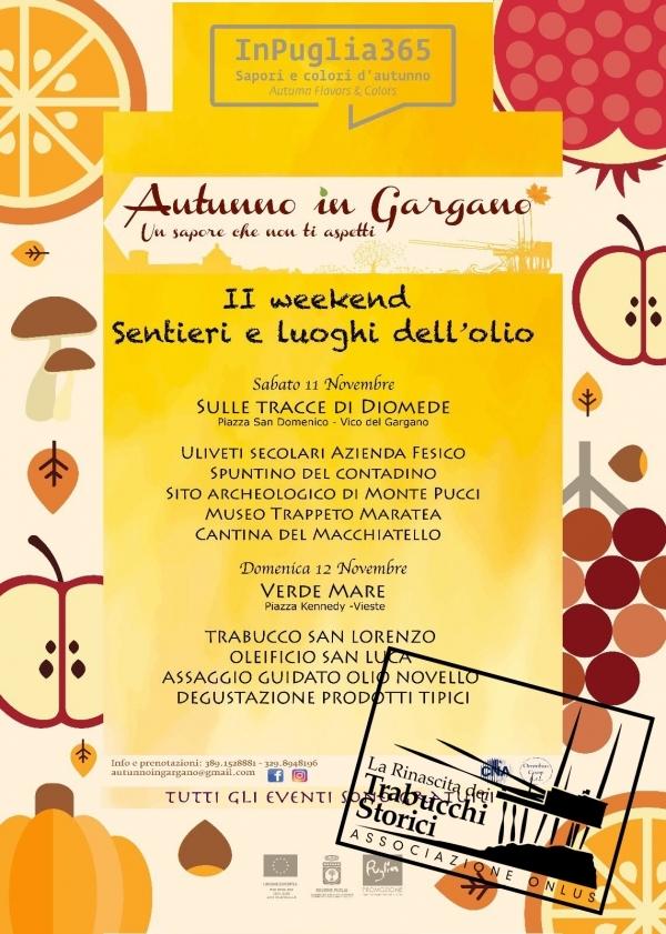 """Vieste/ InPuglia365: """"Autunno IN GARGANO – Sentieri e Luoghi dell'olio"""". Domenica 12"""