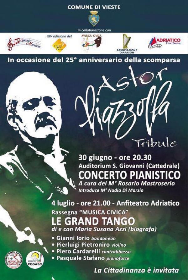 Vieste rende omaggio ad Astor Piazzolla a 25 anni dalla sua scomparsa