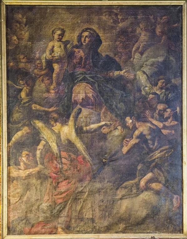 """Vico - La """"Madonna del Suffragio"""" in restauro: è un'opera del Tomajoli?"""