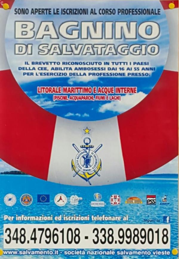 Vieste/ Sono aperte le iscrizioni al Corso Professionale Bagnino di Salvataggio.