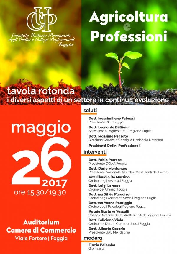 Foggia/ I professionisti parlano di agricoltura. Primo evento del 2017 targato CUP.