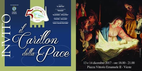 Vieste/ Il 13 e 14 dicembre sei invitato al CARILLON DELLA PACE dalle ore 18 alle 21 in piazza Vittorio Emanuele