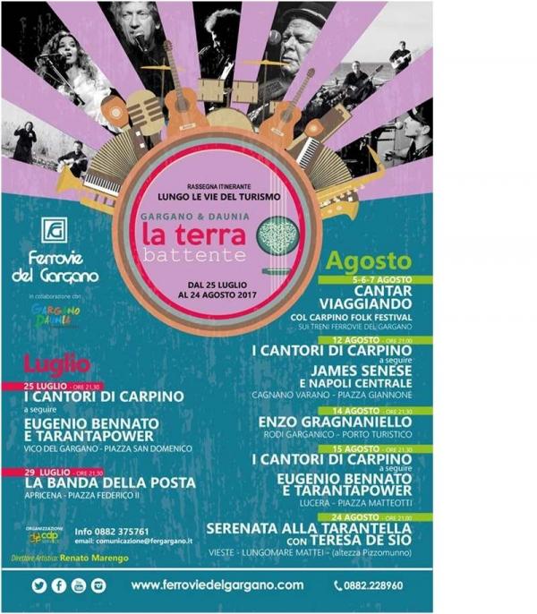"""""""Serenata alla tarantella"""" nella RASSEGNA ITINERANTE """"Lungo le Vie del Turismo – Gargano & Daunia la terra battente"""""""