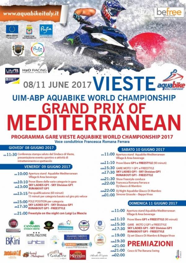 """A Vieste """"Aquabike World Championship"""" entra nel vivo. La tappa di Vieste è inserita nel campionato mondiale di aquabike"""