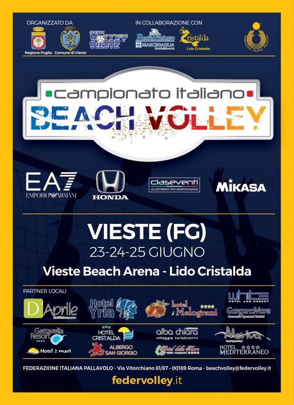 Parte domani da Vieste il Campionato Italiano Assoluto di Beach Volley. Domenica la diretta su Sky