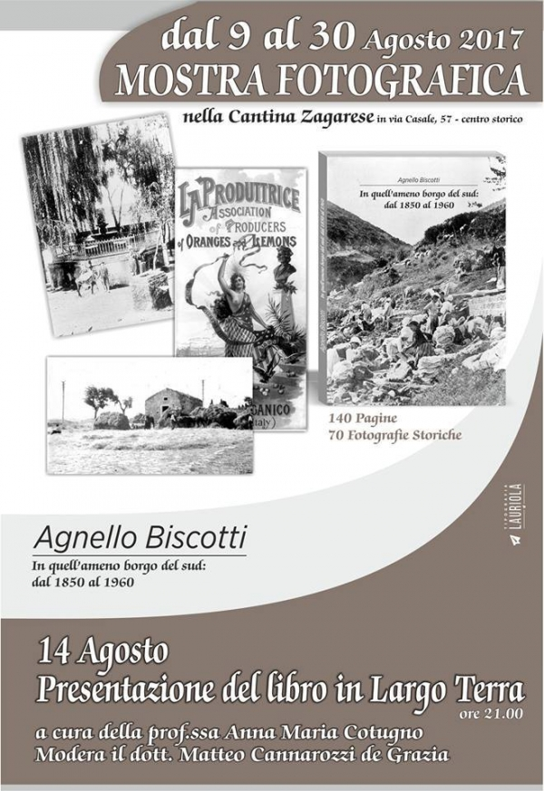 A Vico oggi presentazione del libro IN QUELL'AMENO BORGO DEL SUD DAL 1850 AL 1960