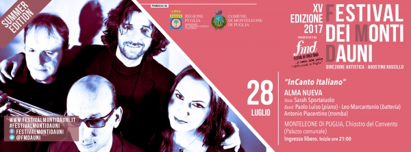 Ritorna la XV edizione del Festival dei Monti Dauni. (... Con un affaccio sul Gargano). Si parte venerdì 28 da Monteleone.