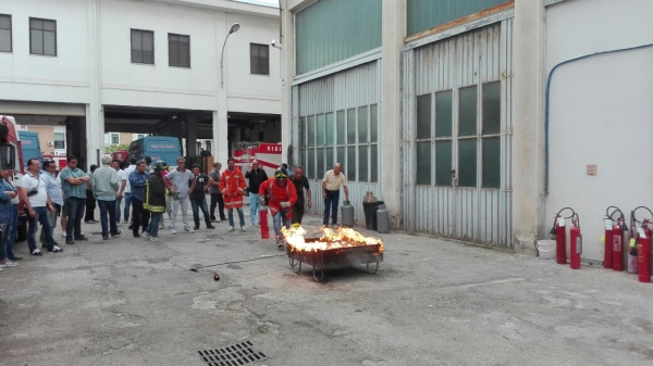 EBT Puglia a Vieste per la prevenzione, evacuazione incendi e lotta antincendio