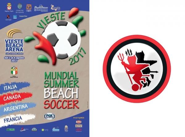 Vieste - Dirigenti e mister del Foggia Calcio al mondiale di beach soccer