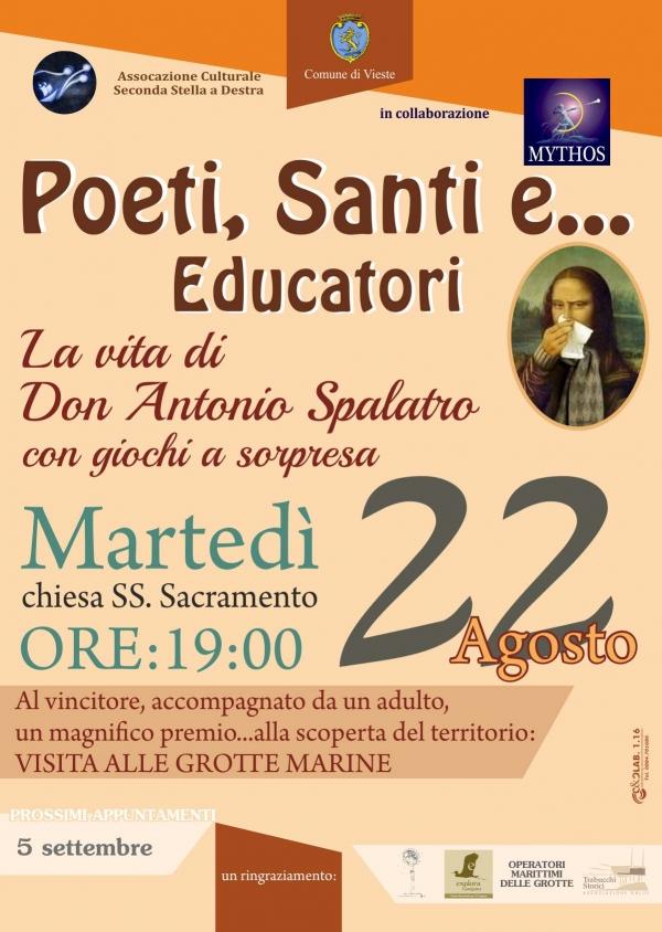 """Vieste/ Torna martedì l'appuntamento """"Poeti,santi e..."""""""