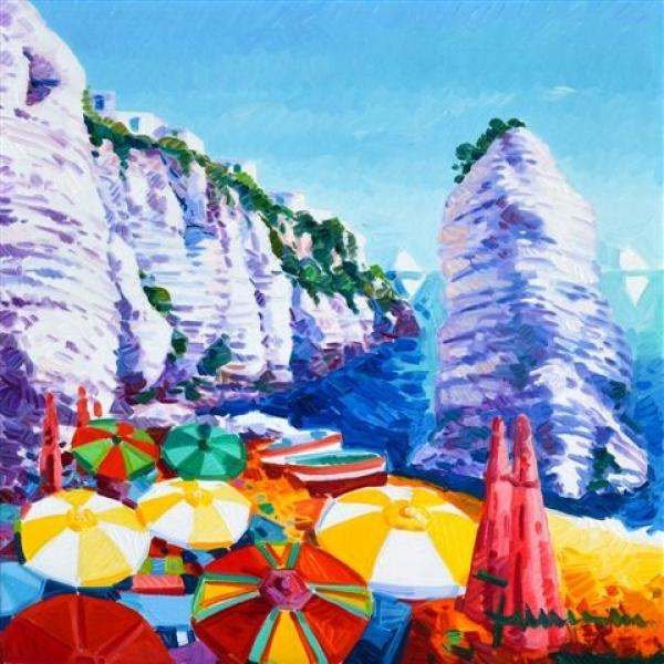Il mare del Gargano protagonista dei quadri di Athos Faccincani: l'inaugurazione della personale