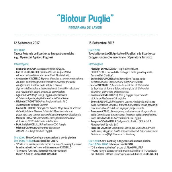 """""""Biotour Puglia""""/ L'Agroalimentare il Petrolio della Ristorazione e del Turismo"""