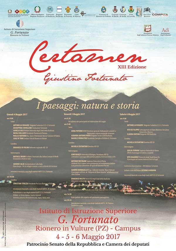 """Vieste/ TERZO POSTO dell'I.I.S.S. """"Fazzini-Giuliani"""" al Certamen Giustino Fortunato – sezione saggistica."""