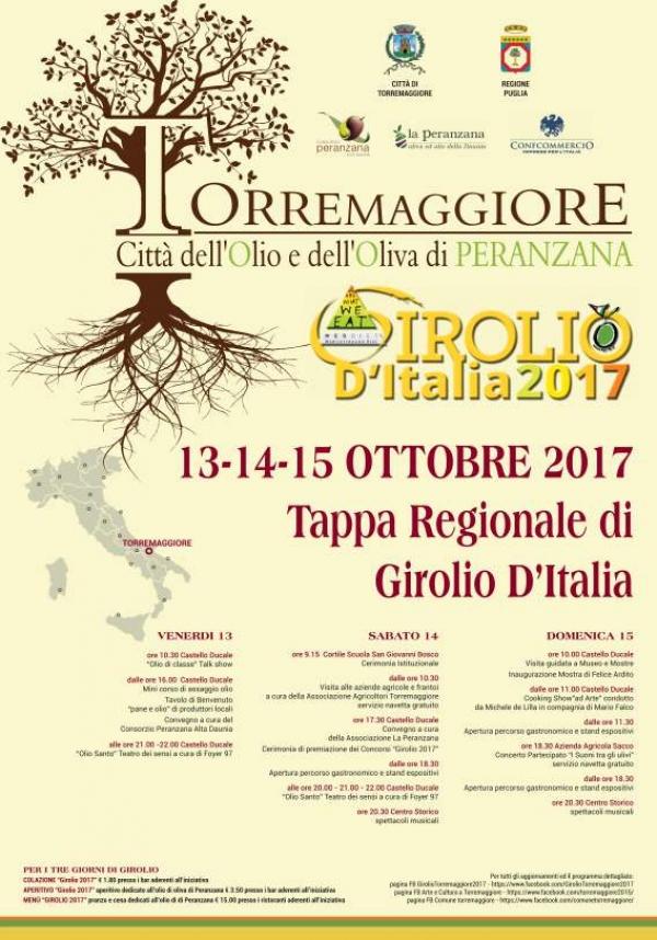 Girolio 2017 a Torremaggiore – Mercoledì 11 ottobre alle 10:30 conferenza stampa