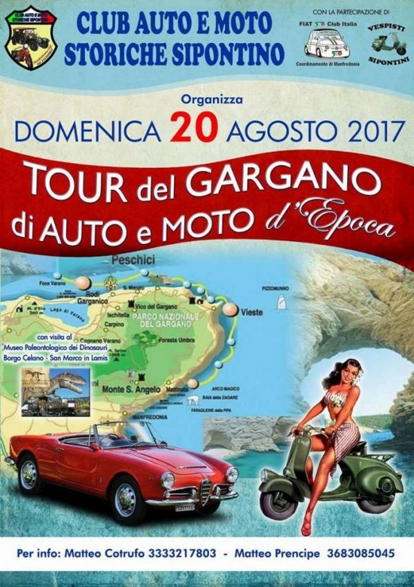 Domenica 20 agosto il tour del Gargano di auto e moto d'epoca