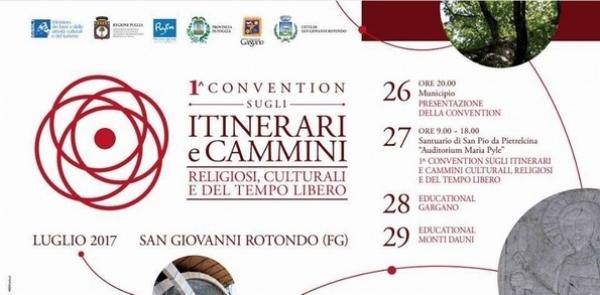 Prima Convention su itinerari e cammini religiosi, culturali e del tempo libero