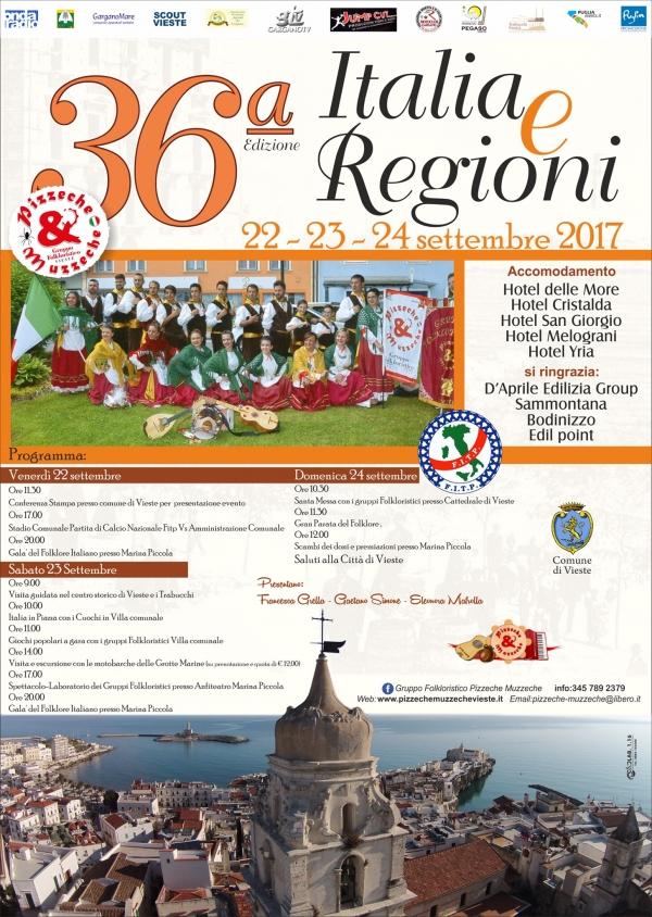 Pizzeche & Muzzeche/ Via alla 36^ma edizione di ?Italia e Regioni?, il Raduno nazionale dei gruppi folklorici