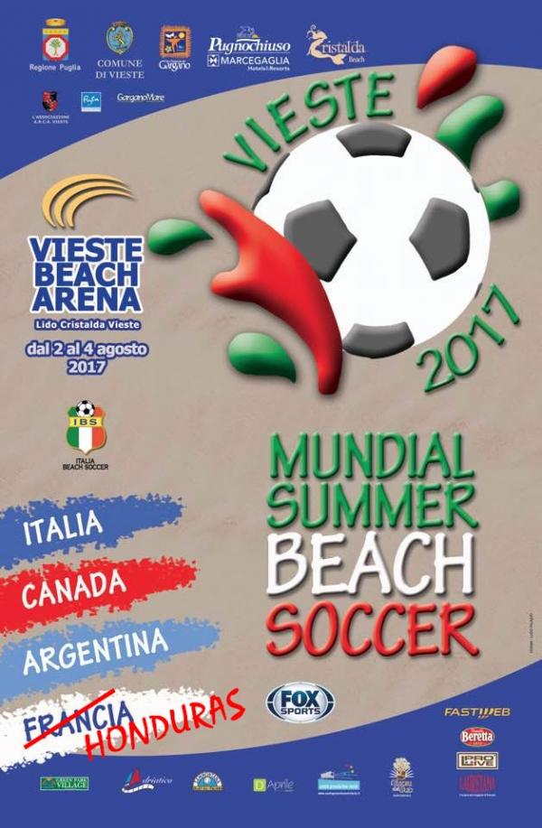 Torna il beach soccer a Vieste. Oggi le due semifinali, domani le finali e il Foggia Calcio
