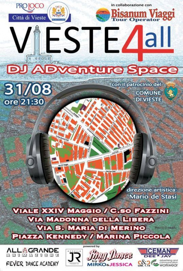 VIESTE 4ALL: Dj ADvance Space giovedì 31 agosto