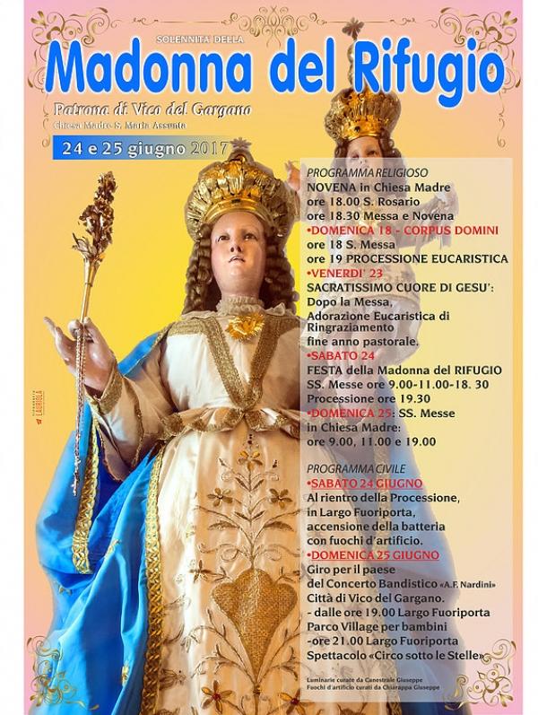 Vico/ Oggi e domani la Festa Madonna del Rifugio.