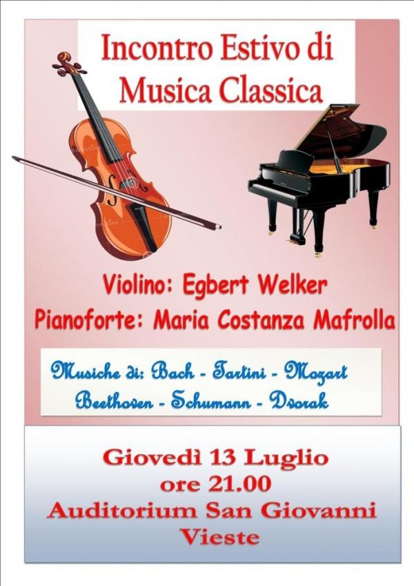 Vieste/ Giovedì incontro estivo di musica classica all'auditorium S. Giovanni